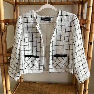 Karl Lagerfeld checkered tweed jacket - Large